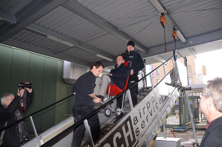 Petition vor Ort Stuttgart Flughafen
