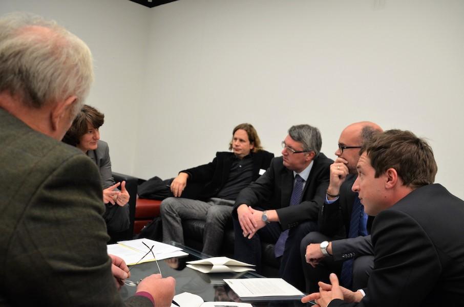 Gespräch im Landtag mit Vertretern aus dem Wahlkreis Geislingen und Vertretern aus dem Verkehrsministerium