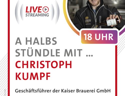 A halbs Stündle mit Christoph Kumpf