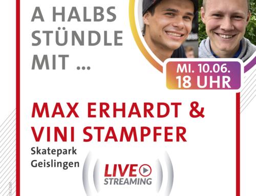 A halbs Stündle mit Max Erhardt und Vincent Stampfer