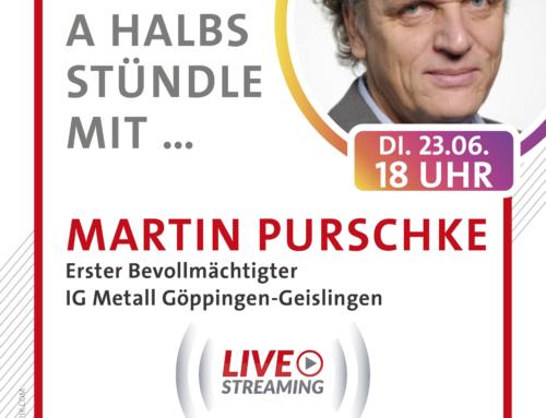 A halbs Stündle mit Martin Purschke