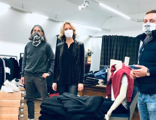 Der Einzelhandel hat eine soziale Funktion | Sascha Binder besucht Modehaus Rieker in Süßen