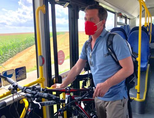 Bus-Rad-Experiment: Sascha Binder testet ÖPNV im Selbstversuch